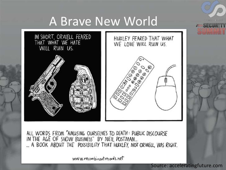 preventing a brave new world Man's almost infinite appetite for distractions by  for the purpose of preventing people from paying too much attention to the  brave new world,.