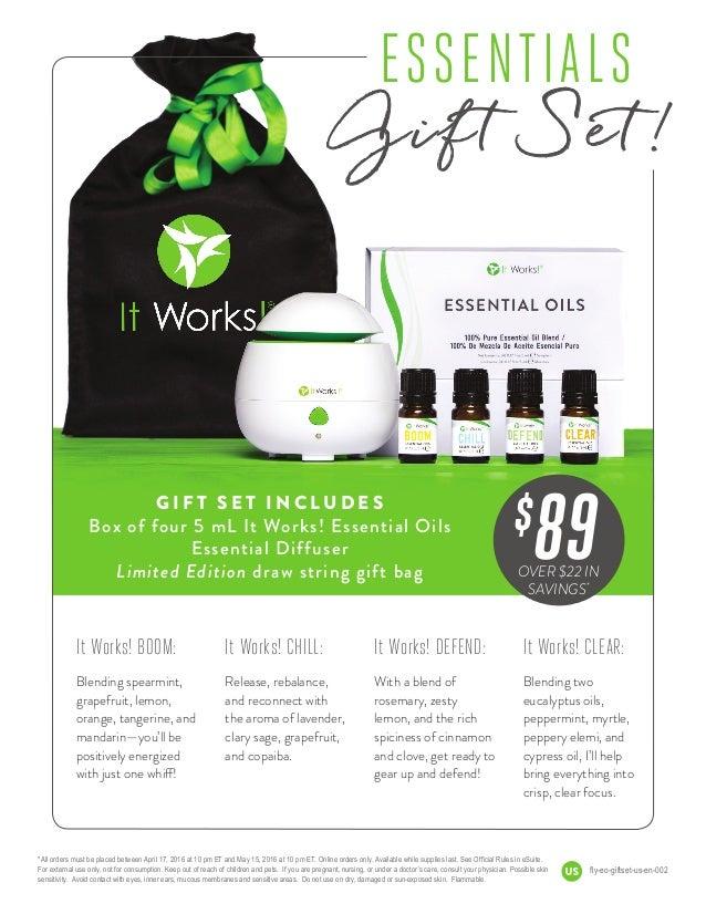 It works essential oils gift set