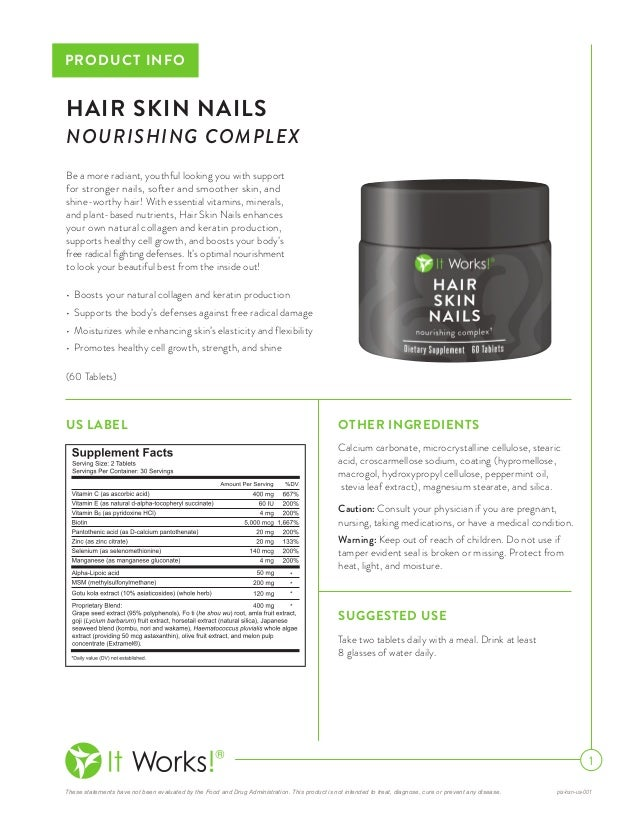 It works hair skin nails