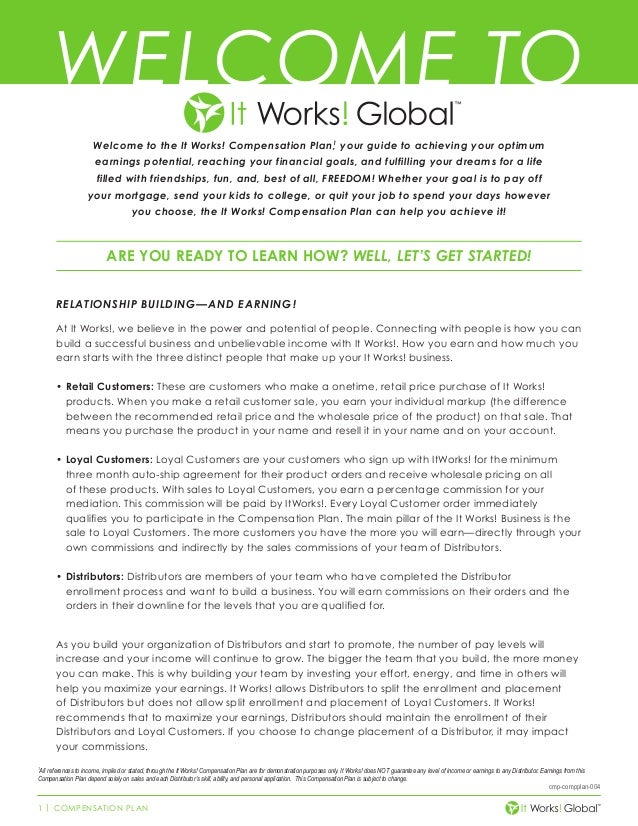 It Works Compensation Plan - Madrat.Co