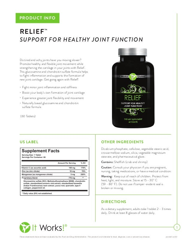 It Works Relief Support For Healthy Joint Function