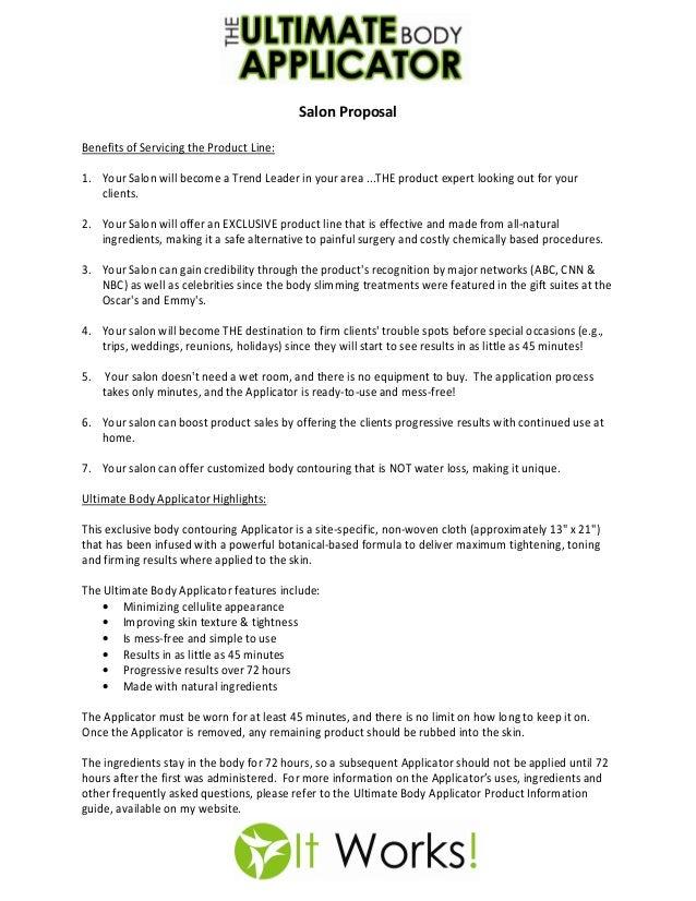 Salon proposal