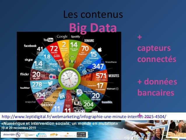 «Numérique et intervention sociale, un monde en mutation» 19 et 20 novembre 2015 Les contenus http://www.leptidigital.fr/w...