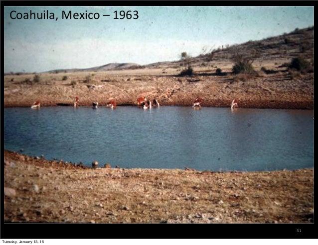 31 Coahuila,  Mexico  –  1963 Tuesday, January 13, 15