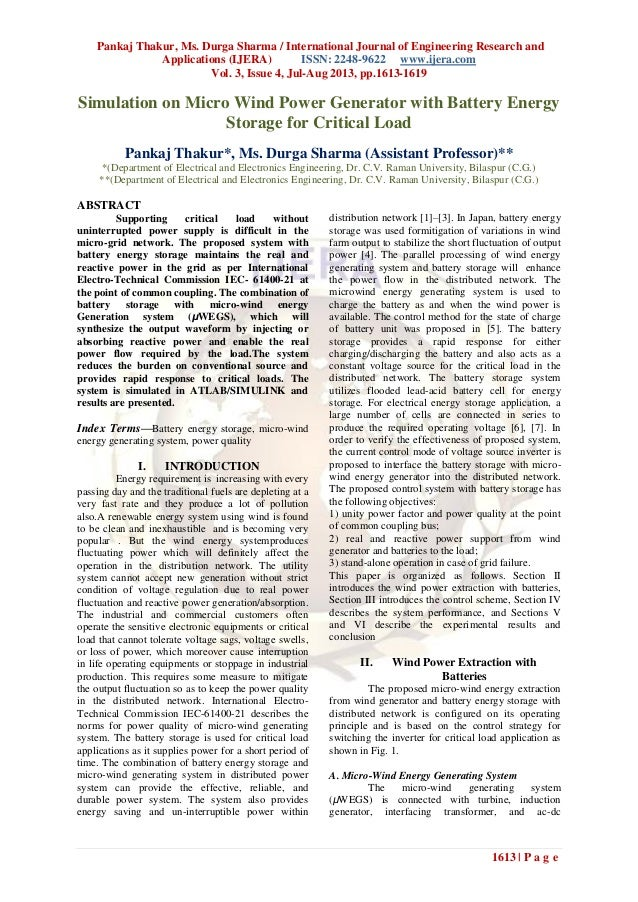 Pankaj Thakur, Ms. Durga Sharma / International Journal of Engineering Research and Applications (IJERA) ISSN: 2248-9622 w...