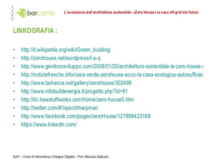 L evoluzione dell architettura sostenibile zero house la casa off - Casa ecologica autosufficiente ...