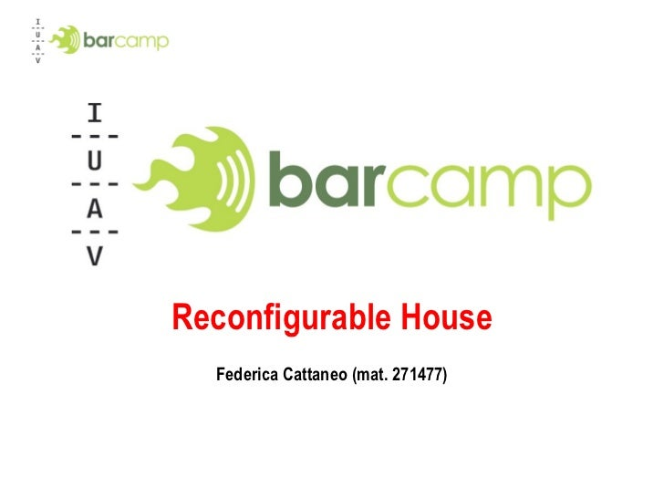 Reconfigurable House Federica Cattaneo (mat. 271477)