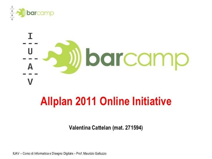 Allplan 2011 Online Initiative Valentina Cattelan (mat. 271594)