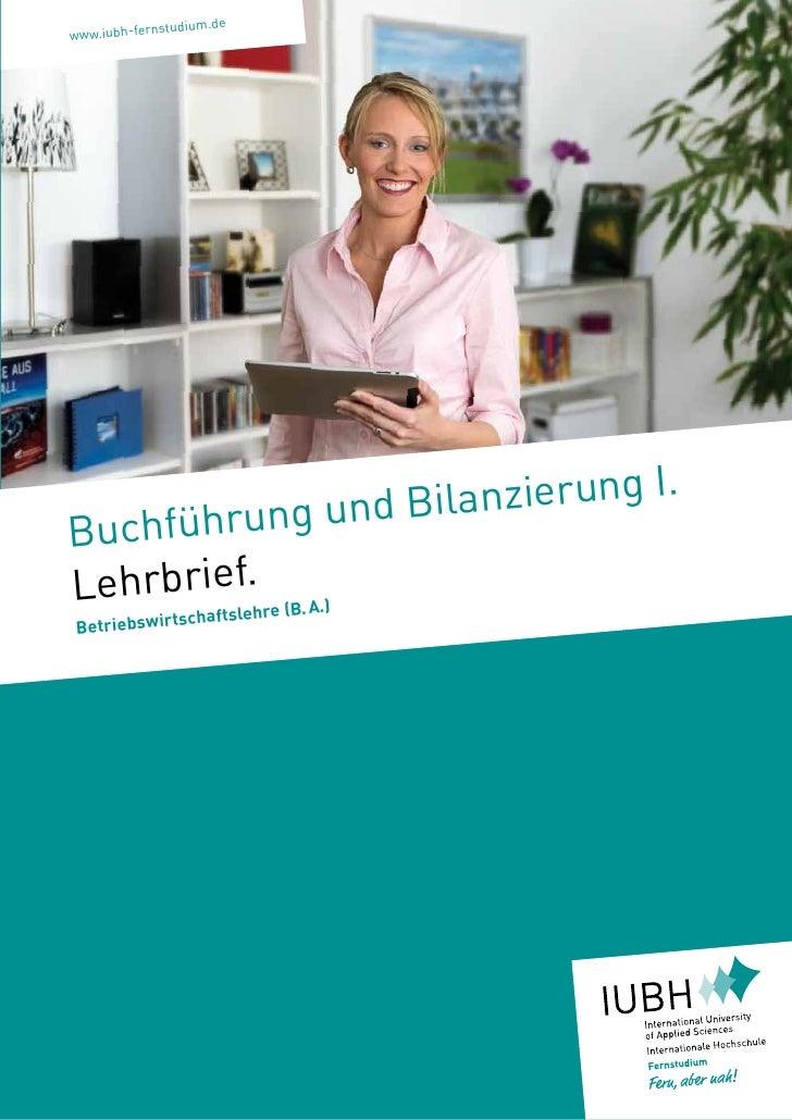 nstudium.dewww.iubh-fer                   hrung und B ilanzierung I.BuchfüLehrbriesf.hre (B.A.)         le      chaftBetr...