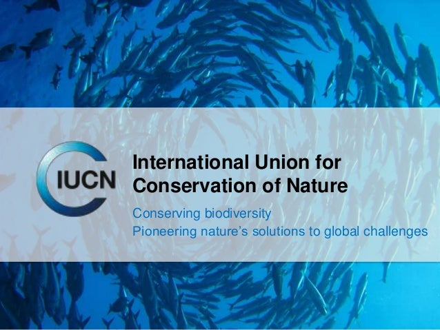 International Union forConservation of NatureConserving biodiversityPioneering nature's solutions to global challenges