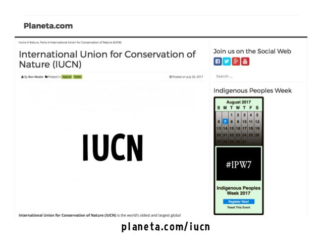 International Union for Conservation of Nature (IUCN) on the Social Web Slide 3