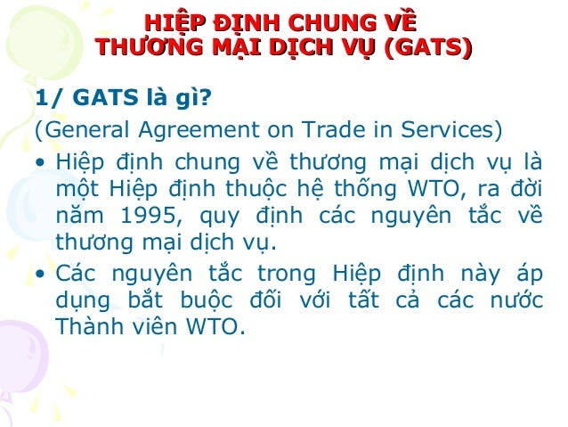 Ykybymy General Agreement On Trade In Services Gats Signatory