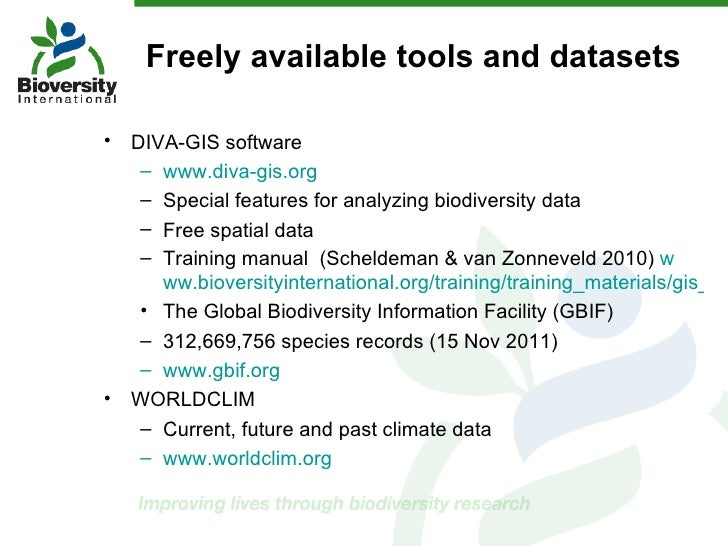 Iufro species conservation china dec11 for Diva gis