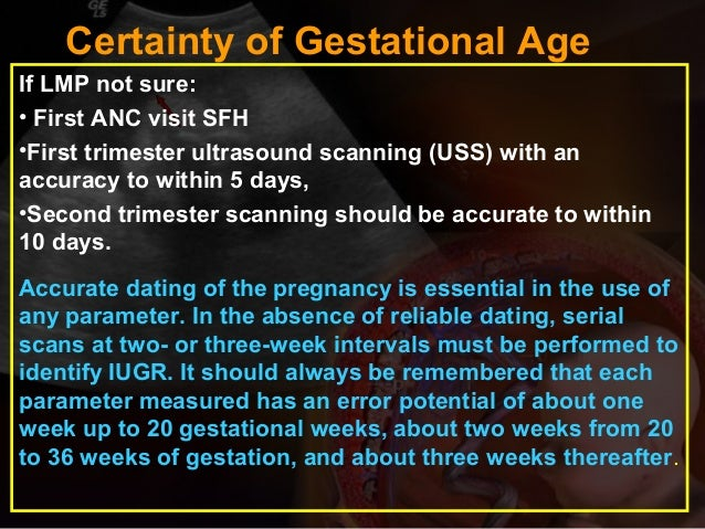 Second trimester dating scan accuracy