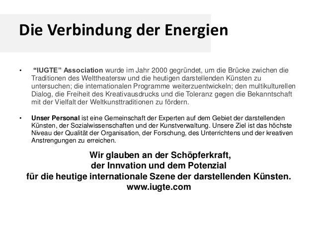"""Die Verbindung der Energien • """"IUGTE"""" Association wurde im Jahr 2000 gegründet, um die Brücke zwichen die Traditionen des ..."""