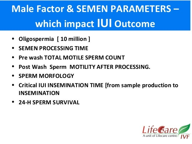 Intrauterine insemination with a sperm count of 13 million