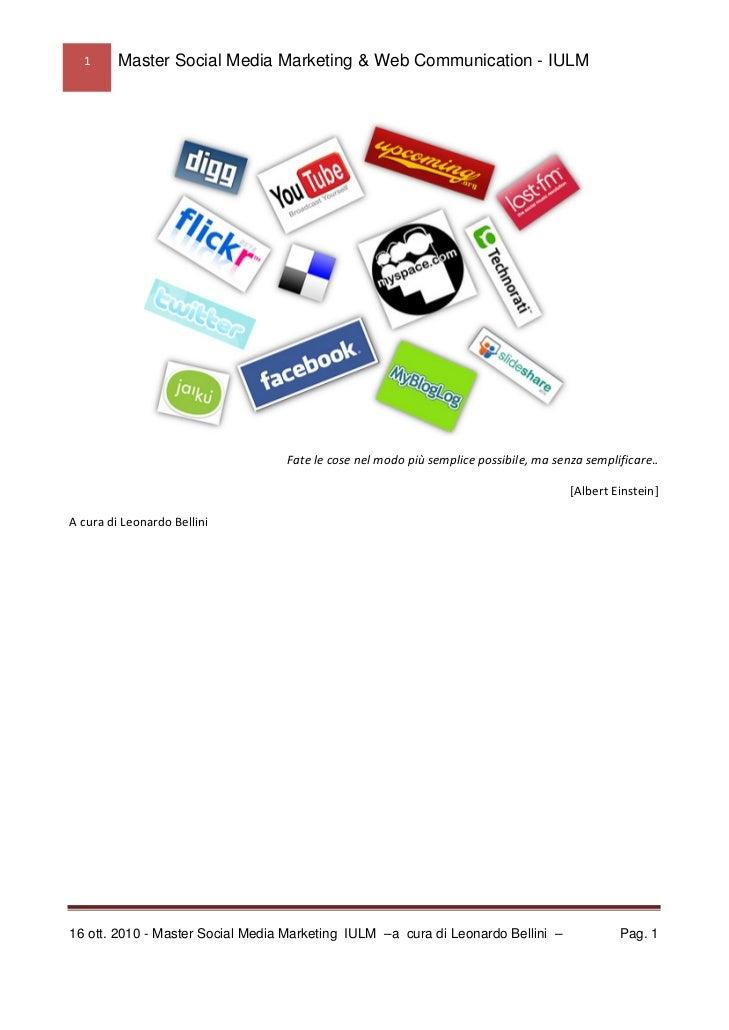 1   Master Social Media Marketing & Web Communication - IULM                                                            ...