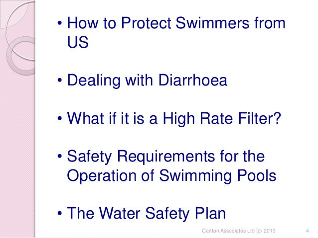 Document review and production - Emergency action plan swimming pool ...