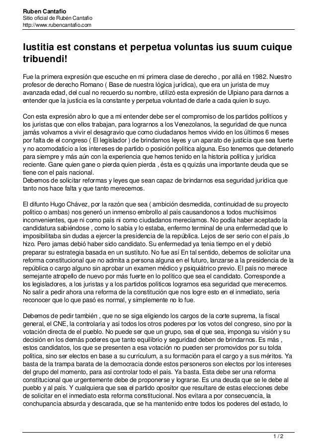 Ruben Cantafio Sitio oficial de Rubén Cantafio http://www.rubencantafio.com Iustitia est constans et perpetua voluntas ius...