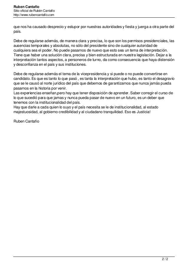 Ruben Cantafio Sitio oficial de Rubén Cantafio http://www.rubencantafio.com que nos ha causado desprecio y estupor por nue...