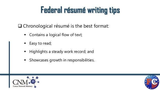 federal rsum formats 29