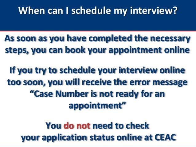 Immigrant Visas: Booking an Immigrant Visa Interview