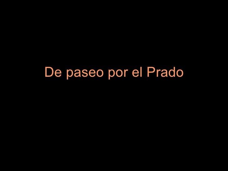De paseo por el Prado