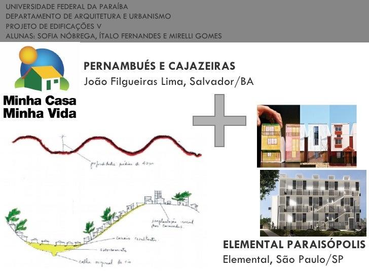 UNIVERSIDADE FEDERAL DA PARAÍBA DEPARTAMENTO DE ARQUITETURA E URBANISMO PROJETO DE EDIFICAÇÕES V  ALUNAS: SOFIA NÓBREGA, Í...