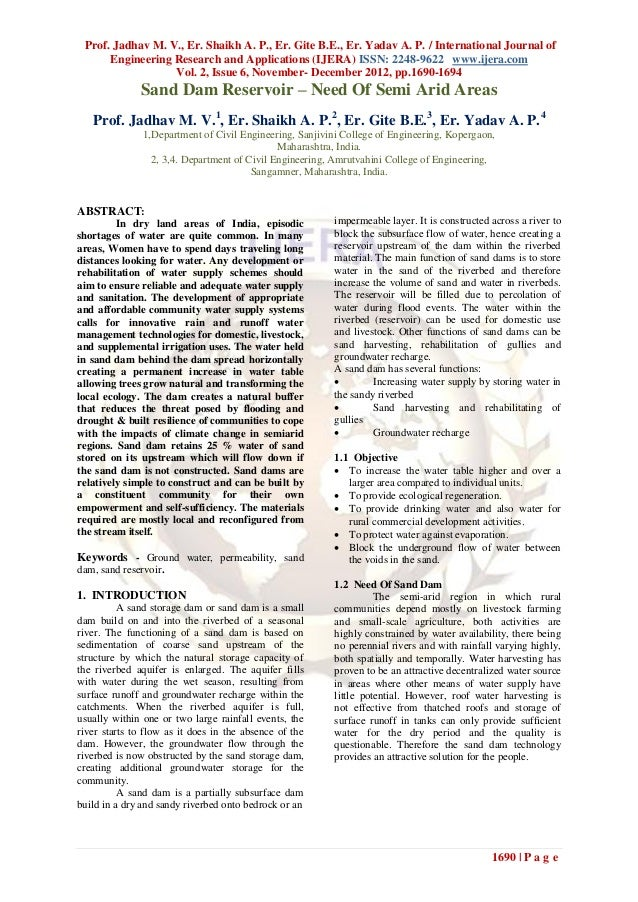 Prof. Jadhav M. V., Er. Shaikh A. P., Er. Gite B.E., Er. Yadav A. P. / International Journal of      Engineering Research ...