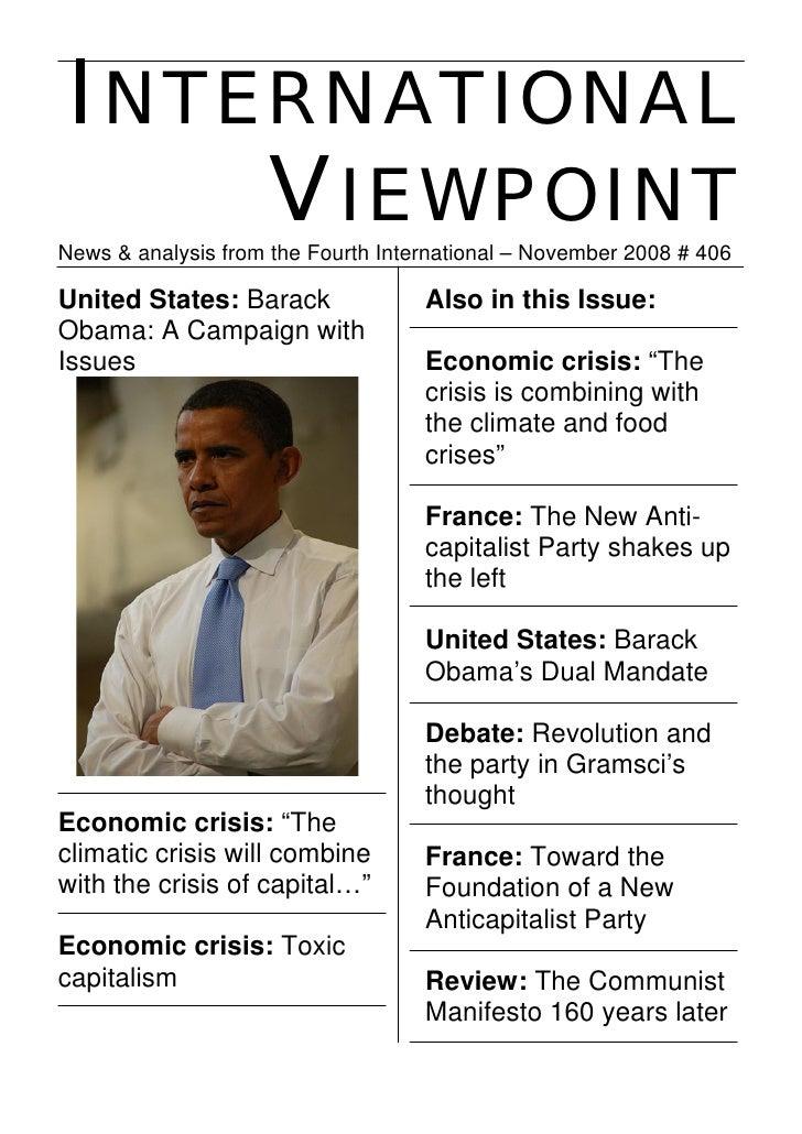 INTERNATIONAL     VIEWPOINT News & analysis from the Fourth International – November 2008 # 406  United States: Barack    ...