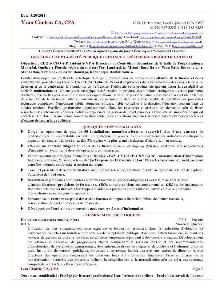 Date: 5/20/2011Yvan Cindric, CA, CPA                                                                       1635, De Tourai...