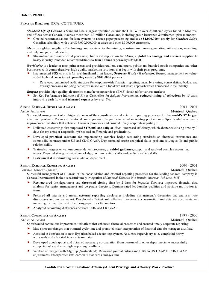 resume templates for chartered accountants resume for risk resume ...