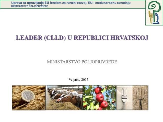Uprava za upravljanje EU fondom za ruralni razvoj, EU i međunarodnu suradnju MINISTARSTVO POLJOPRIVREDE LEADER (CLLD) U RE...