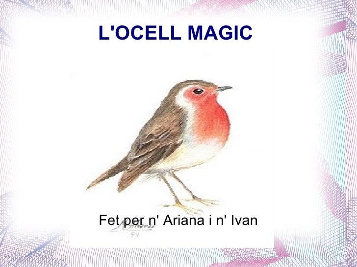L'OCELL MAGIC  Fet per n' Ariana i n' Ivan