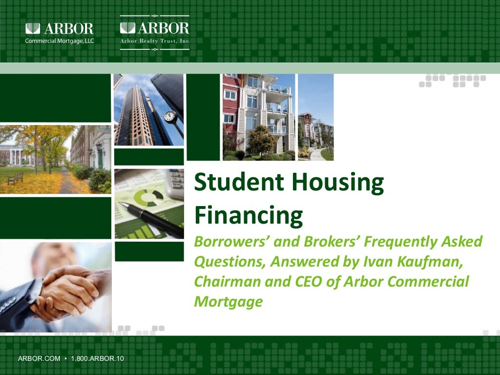 Ivan Kaufman: Student Housing Financing