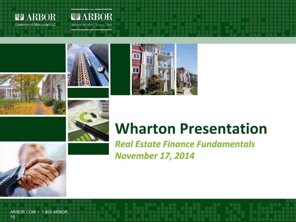 Wharton Presentation: Real Estate Finance Fundamentals