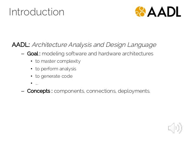 2016 2017 aadl architecture analysis and design language for Architecture design language