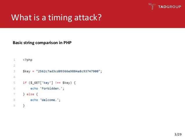 Timing attacks against web applications: Are they still practical? Slide 3