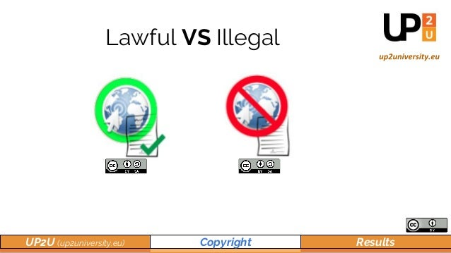 UP2U (up2university.eu) Copyright Results Lawful VS Illegal