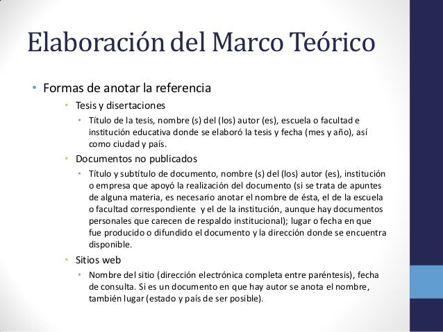 Marco conceptual ejemplo tesis universidad de el trabajo for Tesis de arquitectura ejemplos