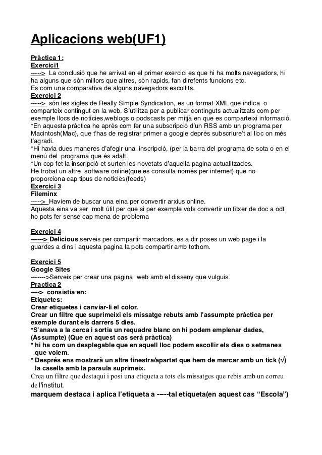 Aplicacions web(UF1)Pràctica 1:Exercici1-----> La conclusió que he arrivat en el primer exercici es que hi ha molts navega...