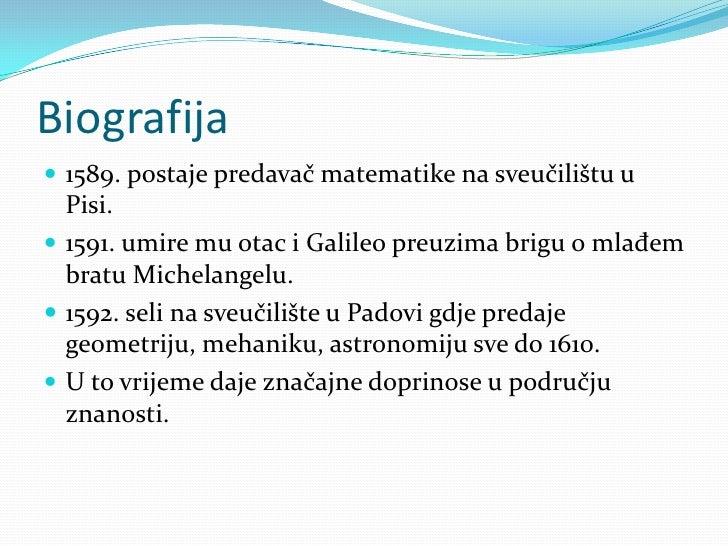 galileo dating znanost besplatno druženje na Malti