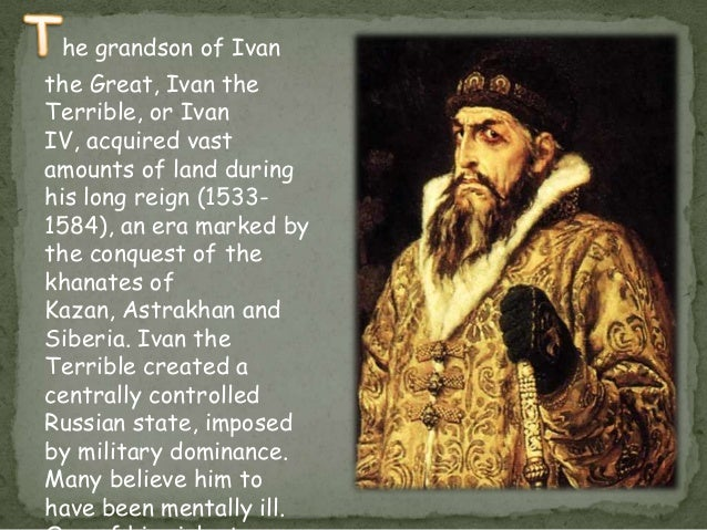 ivan the terrible essay example With a name like ivan the terrible, you're probably not holding out much hope for this one so what are we going to talk about  for example, it's widely.