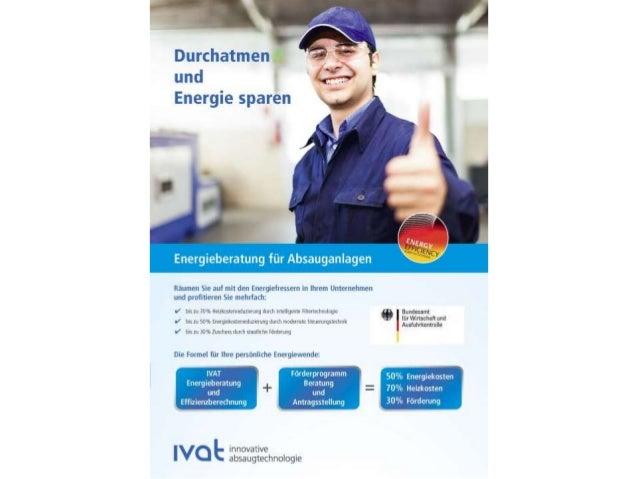 Energieeffiziente Hallenabsaugung mit Absauganlagen und dem AirTower Filterturm der IVAT GmbH Slide 3