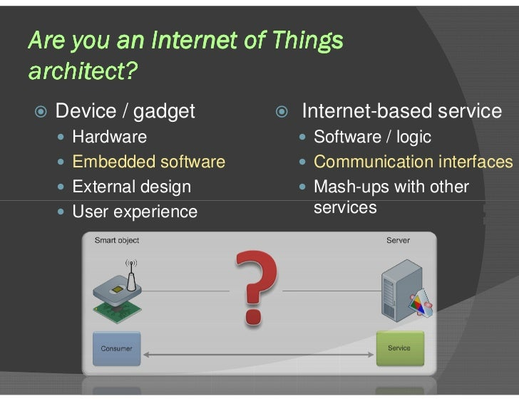Are you an Internet of Things architect?