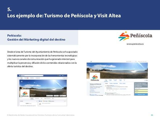 IV Barómetro de Redes Sociales de los Destinos Turísticos de la Comunitat Valenciana 35 Desde el área de Turismo del Ayunt...