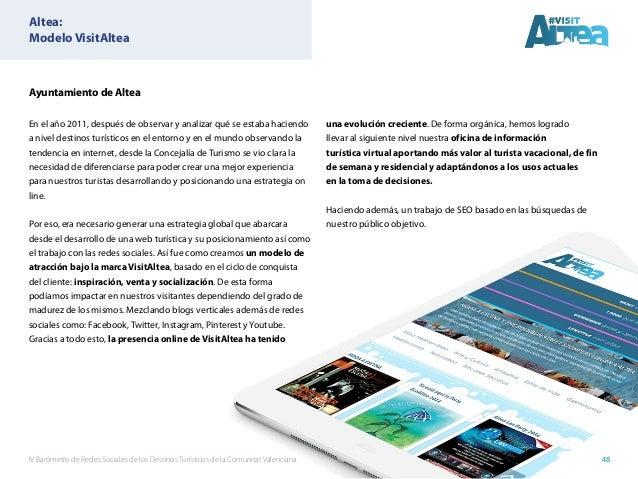 IV Barómetro de Redes Sociales de los Destinos Turísticos de la Comunitat Valenciana 48 Ayuntamiento de Altea En el año 20...