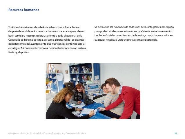 IV Barómetro de Redes Sociales de los Destinos Turísticos de la Comunitat Valenciana 55 Recursos humanos Todo cambio debe ...