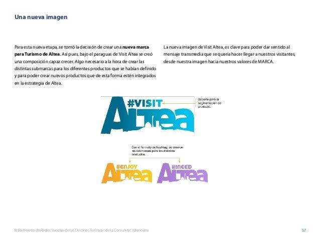 IV Barómetro de Redes Sociales de los Destinos Turísticos de la Comunitat Valenciana 57 Una nueva imagen Para esta nueva e...