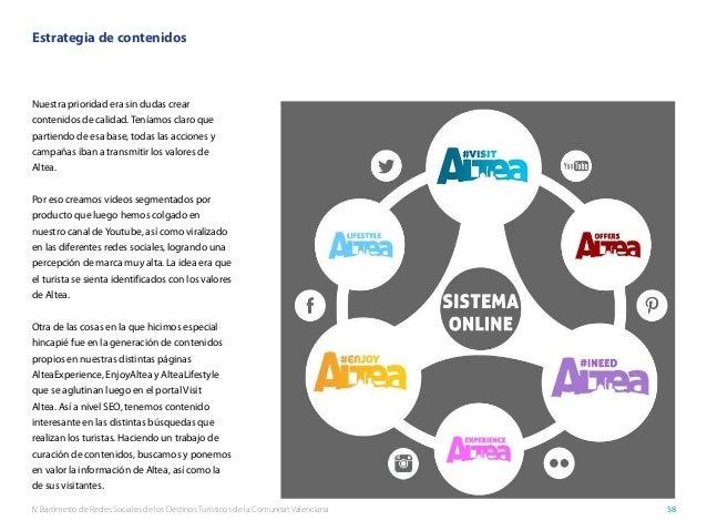 IV Barómetro de Redes Sociales de los Destinos Turísticos de la Comunitat Valenciana 58 Estrategia de contenidos Nuestra p...